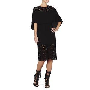 BCBG Dresses - BCBG MAXAZRIA Lacie Lace-Blocked Cape Dress